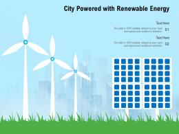 City Powered With Renewable Energy