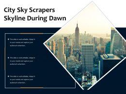 City Sky Scrapers Skyline During Dawn