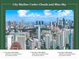City Skyline Under Clouds And Blue Sky