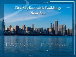 City Skyline With Buildings Near Sea