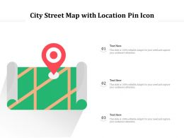 City Street Map With Location Pin Icon