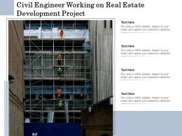 Civil Engineer Working On Real Estate Development Project