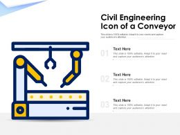 Civil Engineering Icon Of A Conveyor