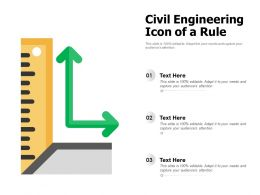 Civil Engineering Icon Of A Rule