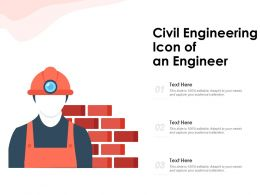 Civil Engineering Icon Of An Engineer