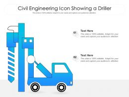 Civil Engineering Icon Showing A Driller