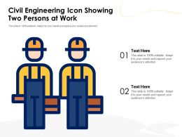 Civil Engineering Icon Showing Two Persons At Work