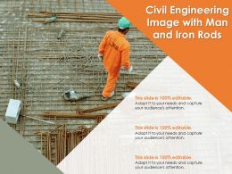 Civil Engineering Image With Man And Iron Rods