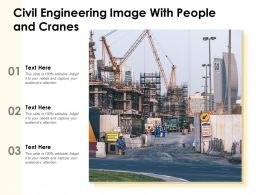 Civil Engineering Image With People And Cranes