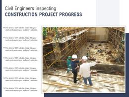 Civil Engineers Inspecting Construction Project Progress