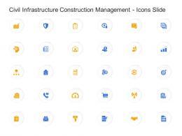 Civil Infrastructure Construction Management Icons Slide Ppt Demonstration