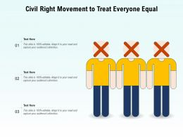 Civil Right Movement To Treat Everyone Equal