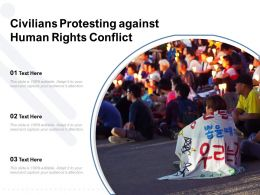 Civilians Protesting Against Human Rights Conflict