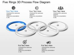 Cj Five Rings 3d Process Flow Diagram Powerpoint Template