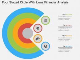 Cj Four Staged Circle With Icons Financial Analysis Flat Powerpoint Design