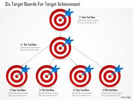 Cj Six Target Boards For Target Achievement Powerpoint Template