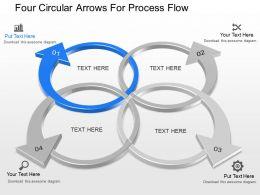 ck Four Circular Arrows For Process Flow Powerpoint Template