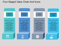 Ck Four Staged Value Chain And Icons Flat Powerpoint Design