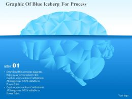 Ck Graphic Of Blue Iceberg For Process Powerpoint Template