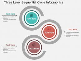 ck Three Level Sequential Circle Infographics Flat Powerpoint Design