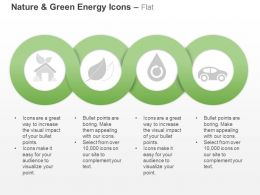 Cl Four Sequential Green Energy And Nature Icons Ppt Icons Graphics