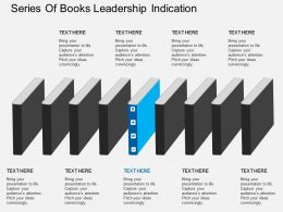 cl Series Of Books Leadership Indication Flat Powerpoint Design