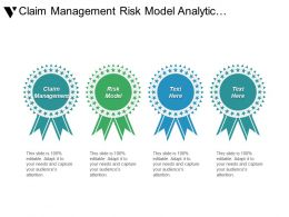 Claim Management Risk Model Analytic Management Financial Industry Marketing Cpb
