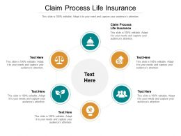 Claim Process Life Insurance Ppt Powerpoint Presentation Diagram Lists Cpb