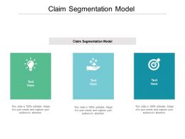 Claim Segmentation Model Ppt Powerpoint Presentation Infographic Template Graphics Cpb