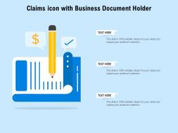 Claims Icon With Business Document Holder