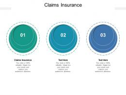 Claims Insurance Ppt Powerpoint Presentation Infographics Display Cpb