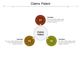 Claims Patent Ppt Powerpoint Presentation Pictures Gridlines Cpb