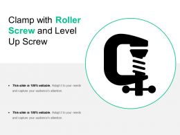 Clamp With Roller Screw And Level Up Screw