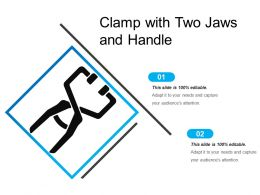 Clamp With Two Jaws And Handle