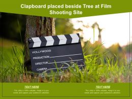 Clapboard Placed Beside Tree At Film Shooting Site