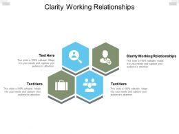 Clarity Working Relationships Ppt Powerpoint Presentation Model Template Cpb