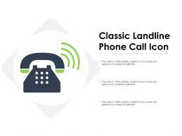 Classic Landline Phone Call Icon