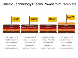 Classic Technology Stacks Powerpoint Template
