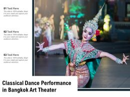 Classical Dance Performance In Bangkok Art Theater