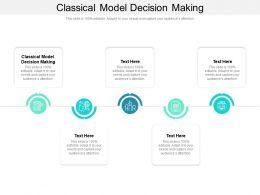 Classical Model Decision Making Ppt Powerpoint Presentation Portfolio Slideshow Cpb