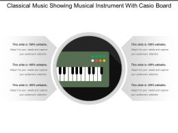 Classical Music Showing Musical Instrument With Casio Board