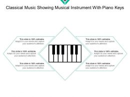 Classical Music Showing Musical Instrument With Piano Keys