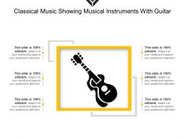 Classical Music Showing Musical Instruments With Guitar