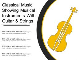 Classical Music Showing Musical Instruments With Guitar And Strings