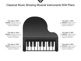 Classical Music Showing Musical Instruments With Piano