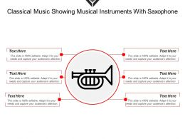 Classical Music Showing Musical Instruments With Saxophone