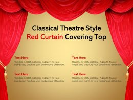 Classical Theatre Style Red Curtain Covering Top