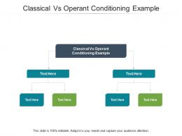 Classical Vs Operant Conditioning Example Ppt Powerpoint Presentation Infographic Template Cpb