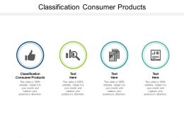 Classification Consumer Products Ppt Powerpoint Presentation Pictures Vector Cpb