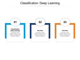 Classification Deep Learning Ppt Powerpoint Presentation Templates Cpb